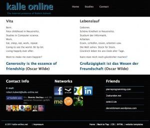 kalle-online.net - old homepage