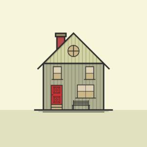 une maison sur une ligne
