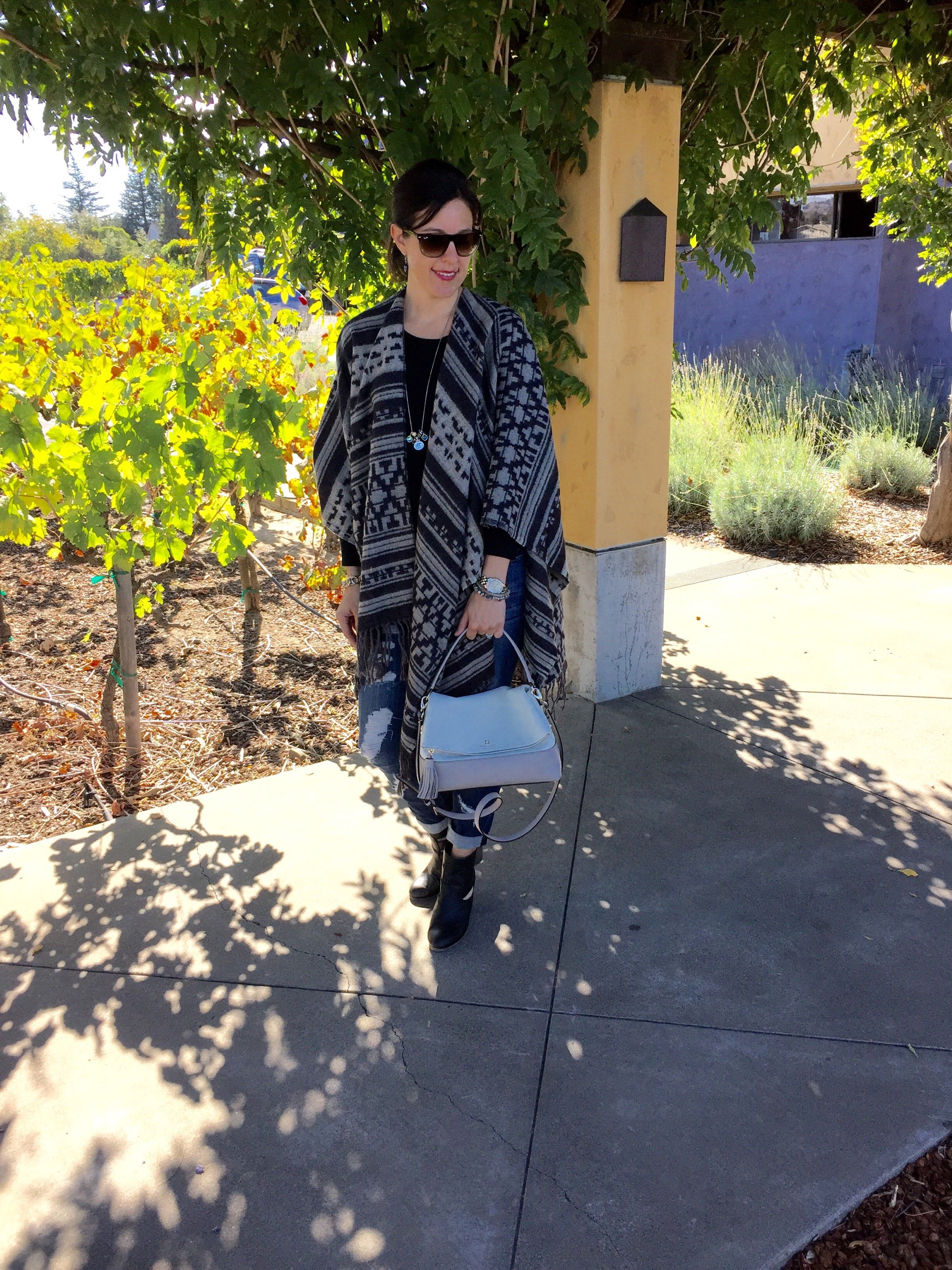 Poncho + Skinnies in Wine Country