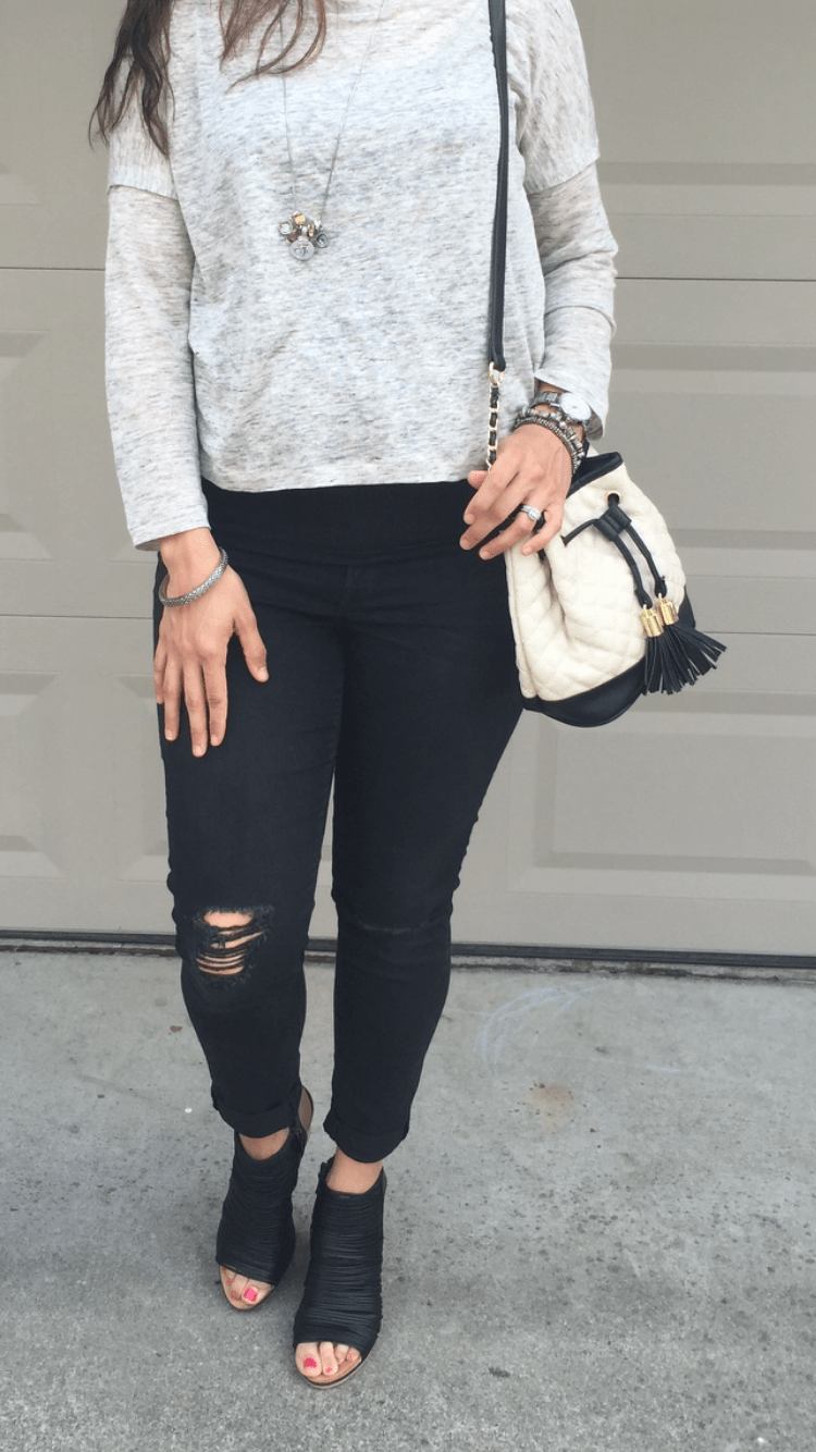 How to style skinny jeans and wedges | Fall fashion tips | cool weather fashion | fall and winter fashion ideas