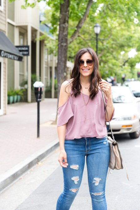 Where to buy good cheap clothes, Styling Cold Shoulder Tops, Summer tops, Cold shoulder outfit, Pink cold shoulder top, Affordable fashion