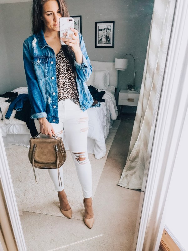 b21140b10bb white jeans. Leopard again makes me so happy! This one is slightly  different, but over all a great style. You can see the post on this tank  here for lots of ...