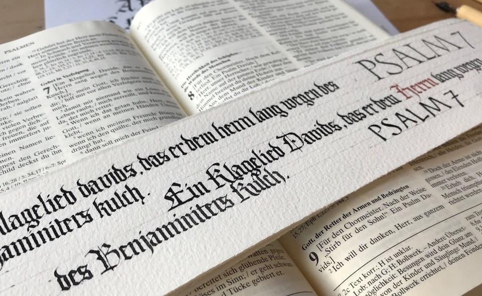 Bibelschreiben – ein Projekt zum Üben