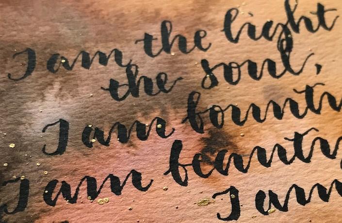 Innere Verbindung durch Kalligrafie