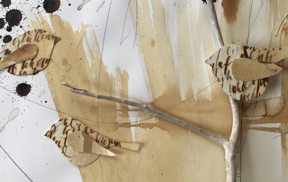 Dekorative Papiervögelchen basteln