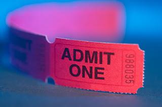 Ticket to Admit one