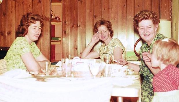 Karin with mom, aunt and grandma