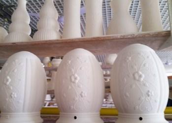 Belleek vases in progress