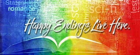 Bella Books Rainbow Banner Happy Endings Live Here