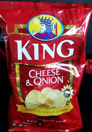 King Cheese and Onion crisps