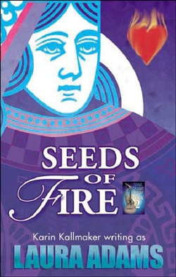book cover seeds of fire lesbian fantasy hildegaard von bingen