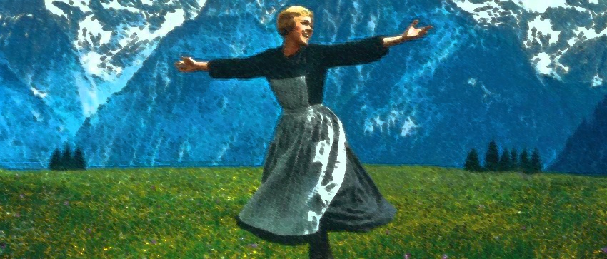 opening sound of music drawing meadow mountains