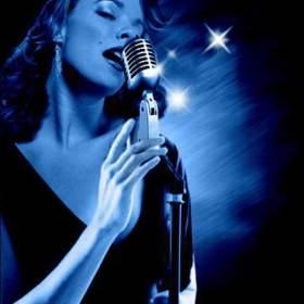 book cover unforgettable blue jazz singer