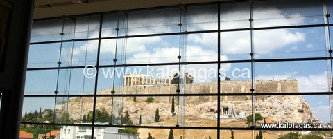 View of the Parthenon from the Cafe/Restaurant in the Museum