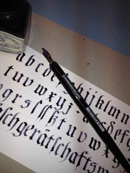 Calligraphy Exercise Ka L-OK