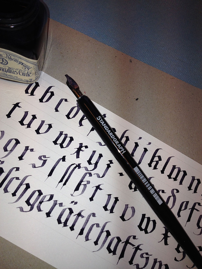 Calligraphy Exercise Ka L-OK