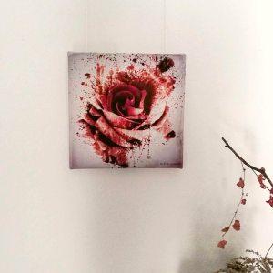 "Somber Ambivalentiae ""Rose Sanguis"" by Ka L-O-K  | Limitierter Leinwanddruck"