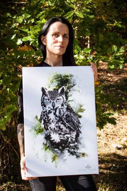 "Ka L-O-K with ""Bubo Bubo"" – HelvEdition Limited Edition Fine Art Canvas Print"