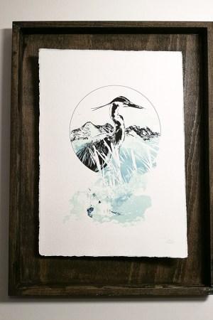 """Ardea Cinerea"" – HelvEdition by Ka L-O-K | Special Edition, Fine Art Print on laid paper"