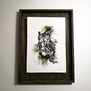"""Bubo Bubo"" – HelvEdition by Ka L-O-K, Kunstdruck auf Büttenpapier"