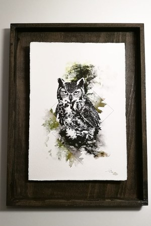 """Bubo Bubo"" – HelvEdition by Ka L-O-K, Fine Art Print"