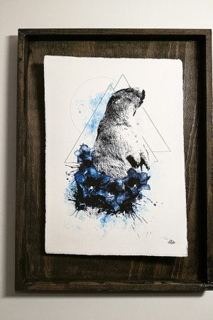"""Marmota Marmota"" – HelvEdition by Ka L-O-K | Special Edition , Fine Art Print on Laid Paper"