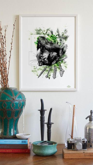 """Sciurus Vulgaris"""" (The Squirell) - Illustration from the series HelvEdition by Ka L-O-K 