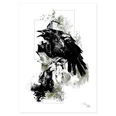 """Die Krähen"" | HelvEdition - Corvus Corvus | Illustration von Ka L-O-K"