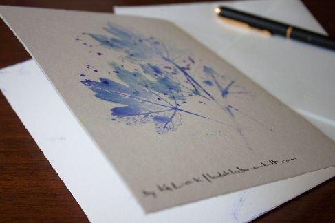 Folia Mystica - Impression manuelle sur double carte avec enveloppe