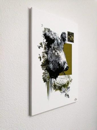 """Die Wildsau"" | HelvEdition – Sus Scrofa von Ka L-O-K | Limited Edition Leinwanddruck"