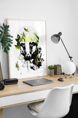 """Meles Meles"" (The Badger) - Illustration from the series HelvEdition by Ka L-O-K 