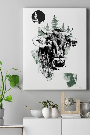 "Mock Up with  HelvEdition illustration ""Cervus Elaphus"" (The Stag) by Ka L-O-K 