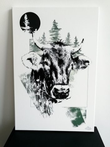"""""""Bos Taurus"""" (The Cow) – HelvEdition Illustration by Ka L-O-K 