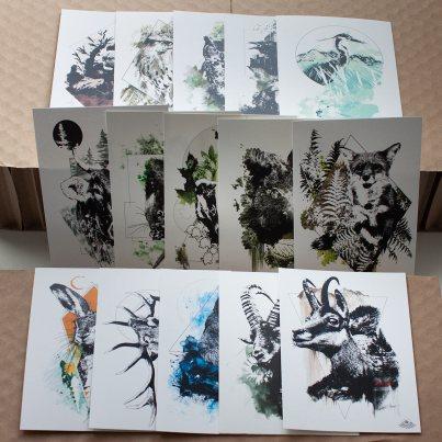 Cartes HelvEdition – Illustration Ka L-O-K   Graphic Arts
