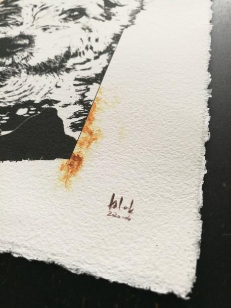 """Detail """"Bounty"""" - Kunstdruck auf Büttenpapier"""