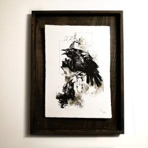 """Corvus Corvus"" – HelvEdition by Ka L-O-K, Kunstdruck auf Büttenpapier"