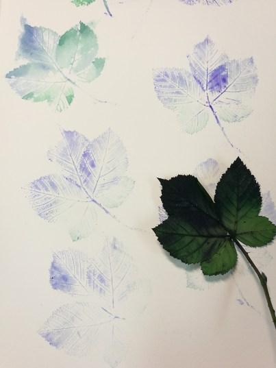 """Print and Watercolor, """"Feuilles"""", Ka L-O-K"""