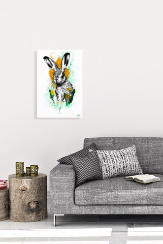 "Mock Up ""Lepus europaeus"" (The Hare) with the Illustration from the art series HelvEdition by Ka L-O-K 