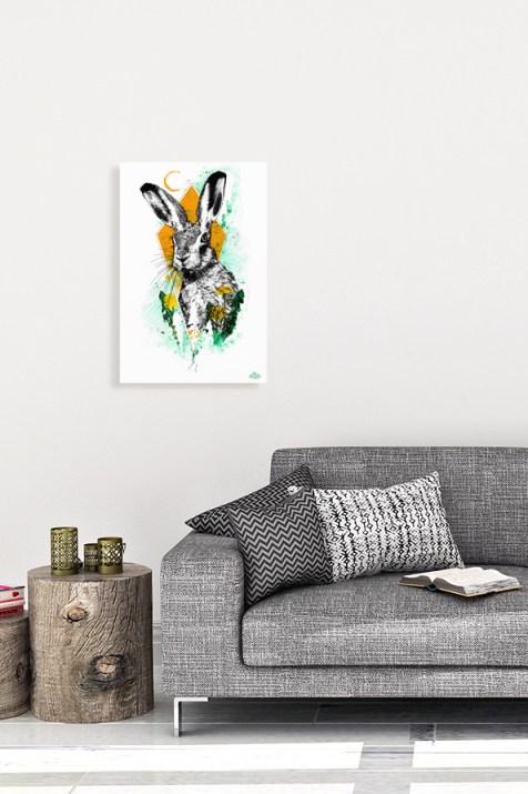 """Mock Up mit der Illustration """"Lepus europaeus"""" aus der Serie HelvEdition de Ka L-O-K   Graphic Arts"""