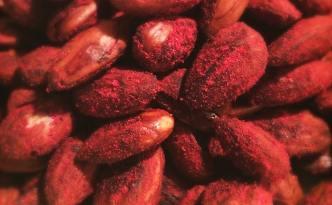 Søde hindbær-mandler