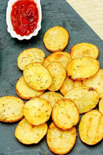 Kartoffel Chips - Gesunde Kalorienarme Rezepte