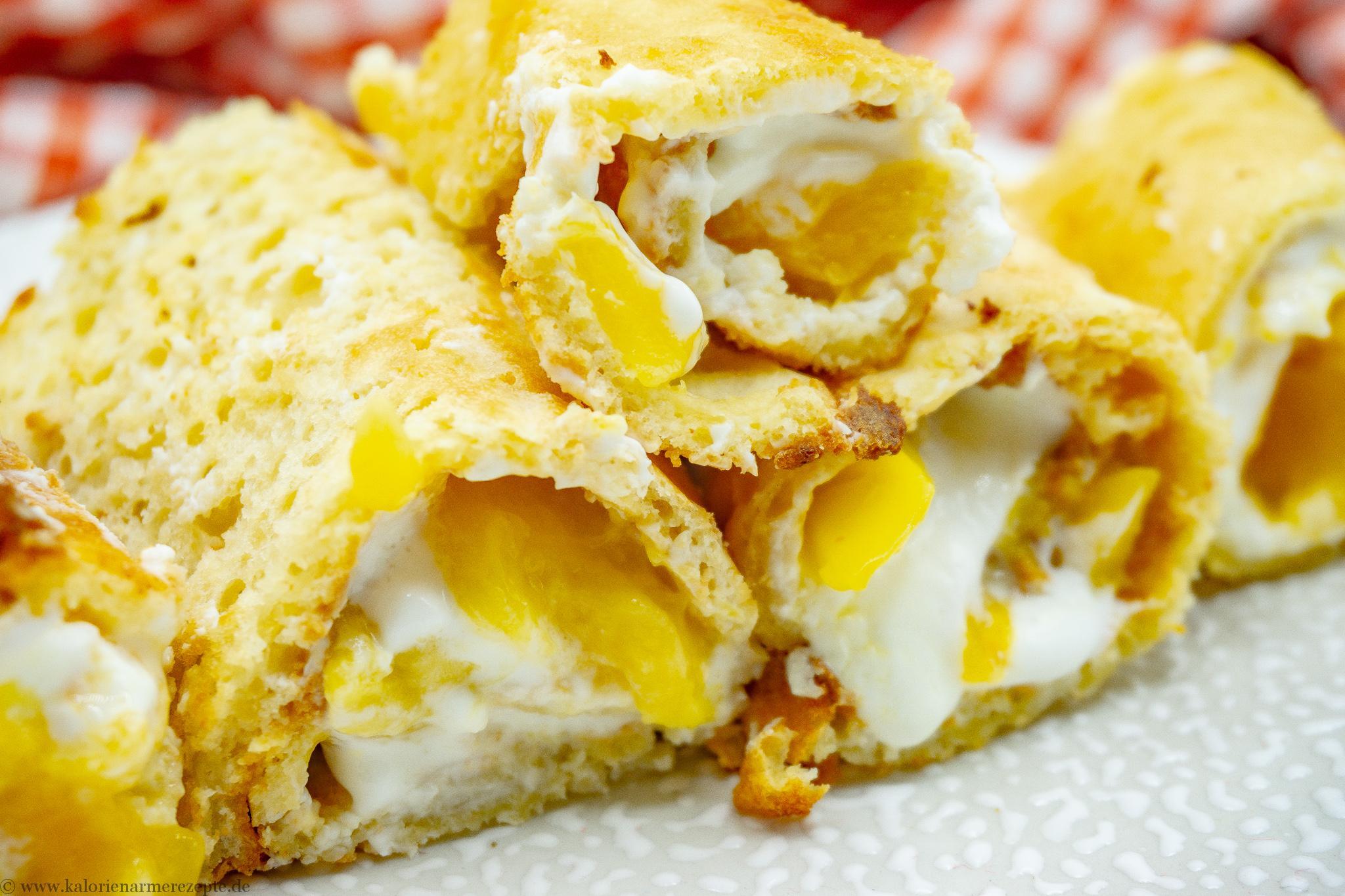 Mango Biskuitrolle - Kalorienarmes Dessert Rezept ohne Zucker