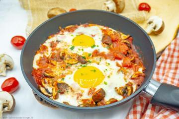 Schakschuka Champignons - Gesunde Kalorienarme Rezepte