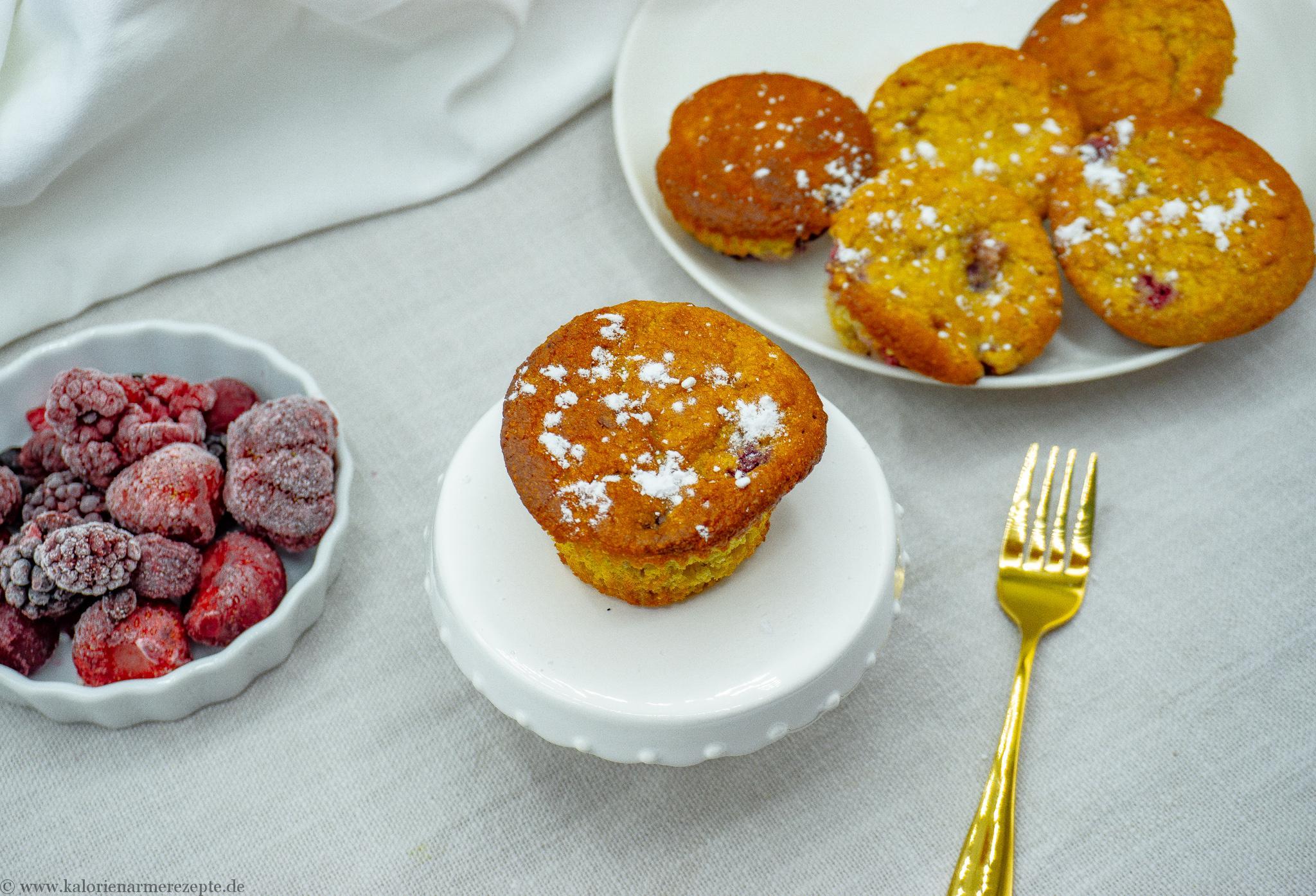 Beeren Muffins - Kalorienarme Rezepte