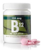 B-12 vitamin, 125 mikrogram