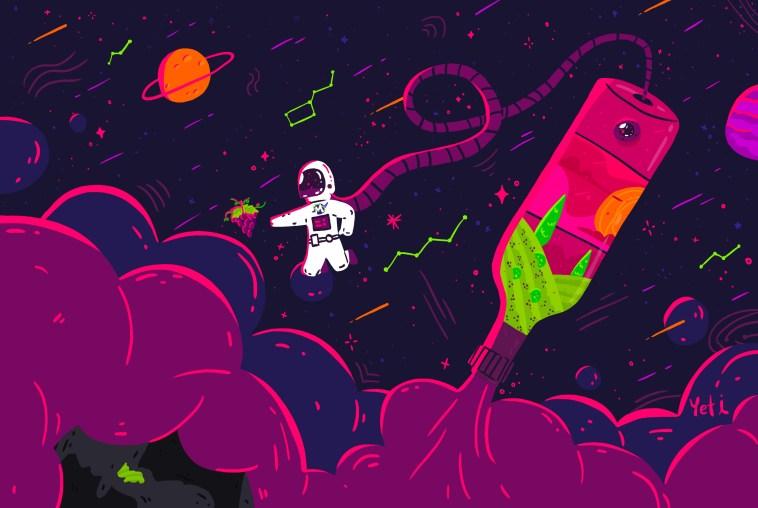 Un viñedo en el espacio - pozo de luna - Yeti