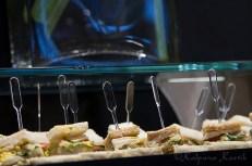 Club sandwiches served during brunch at Le Relais du Parc