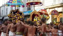 Carrying the deities