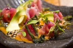 Tiradito sashimi style salad