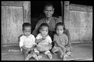 Village triplets from Flores